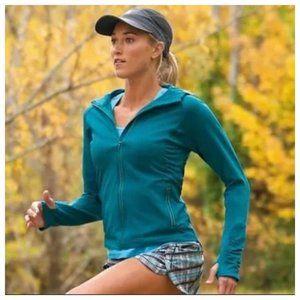 Athleta Women XXS Blue Green Full Zip Active Worko